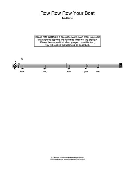 row your boat latin traditional row row row your boat sheet music