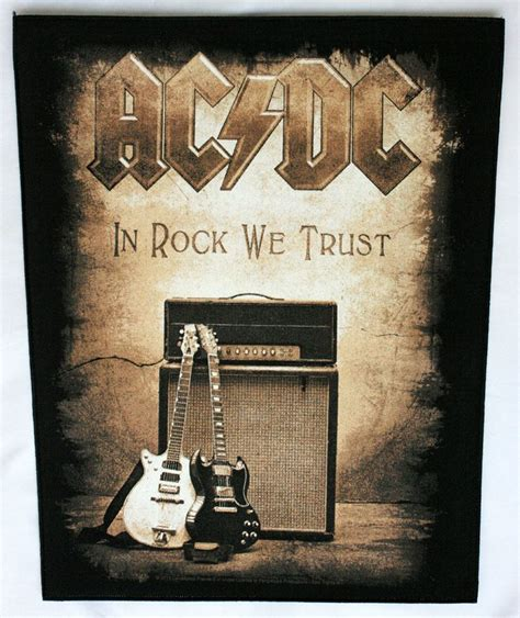 ac dc  rock  trust giant backpatch