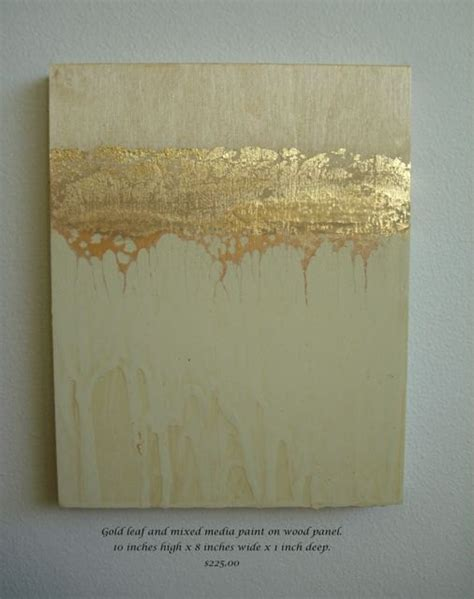 Gold Leafing Paint by Golden Strata 3 Abstract Painting With Gold Leaf On Panel