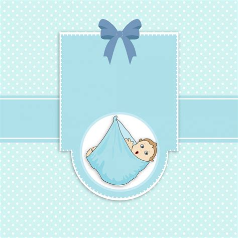 Template Baby Boy Card by Baby Boy Arrival Card Free Stock Photo Domain