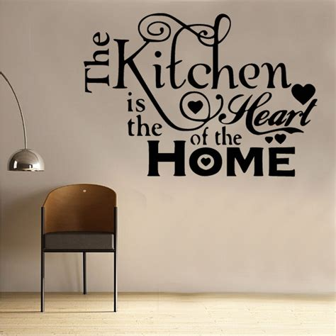 kitchen heart  home wall sticker art kitchen sayings quotes kit ebay