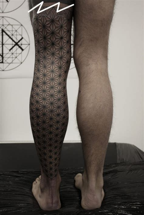 geometric leg tattoo best tattoo ideas amp designs