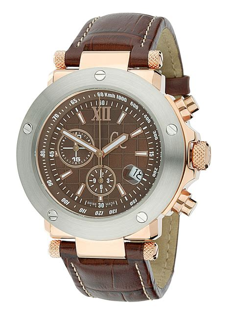 Gc 23006 Rosegold Brown Leather gc leather chronograph review compare