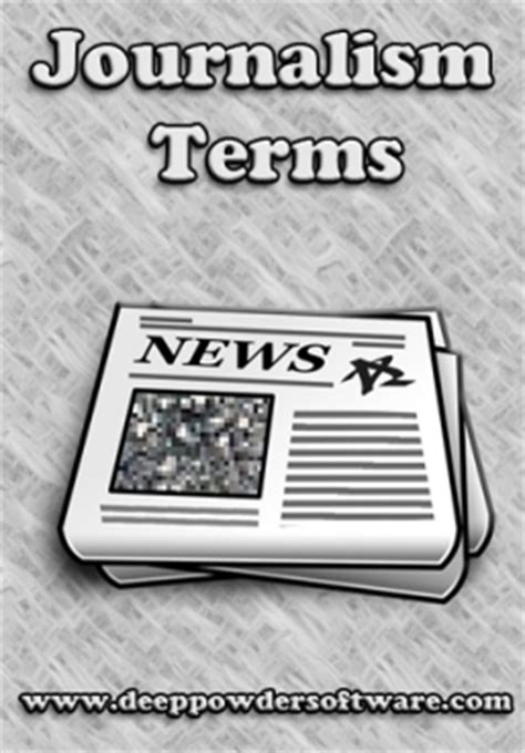 Journalism Vocabulary by Journalism Vocabulary Media And Journalism