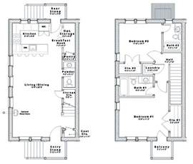 row house floor plans house plans