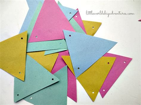 Make Paper Bunting - how to make a last minute paper bunting worlds
