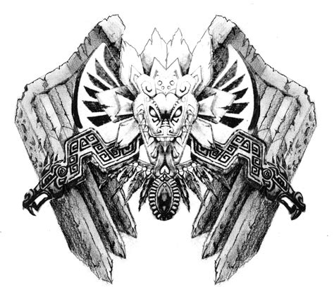 aztec dragon tattoo aztec with wings by neogzus on deviantart