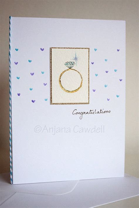 Handmade Wedding Congratulations Cards - 17 best ideas about handmade engagement cards on