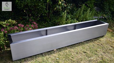 Modern Trough Planter by Modern Planters And Bedding Stainless Steel And