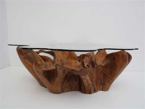 root coffee table stunning vintage teak root coffee table with custom cut
