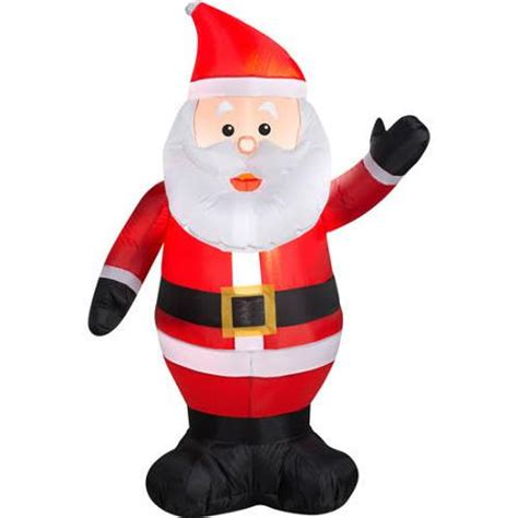 4 airblown inflatable waving santa christmas inflatable
