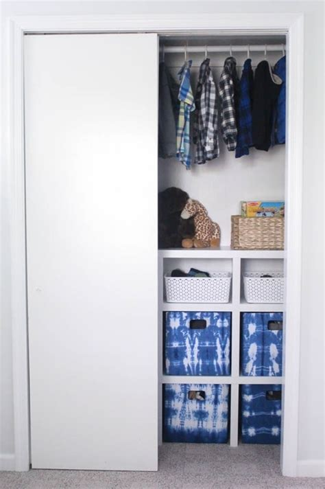 how to organize a closet with sliding doors how to build cheap and easy diy closet shelves lovely etc