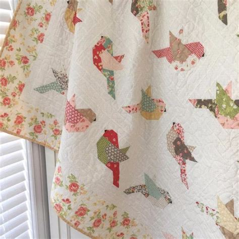 Bird Quilt Pattern by Sweet Birds To Brighten Anyones Day Quilting Cubby