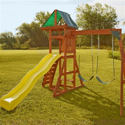 target wooden swing sets swing n slide scrambler wooden play set target