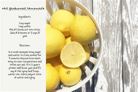 printable lemonade recipes printable old fashioned lemonade recipe recipes