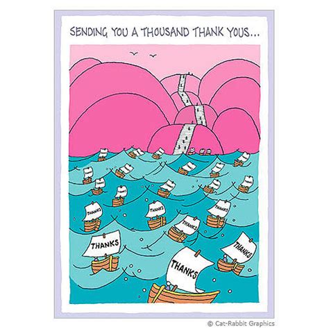 thousand thank yous greeting card by cat rabbit graphics