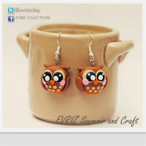Anting Helo Cantik Custom Nama anting clay unik lucu bentuk hewan evriz souvenir and craft