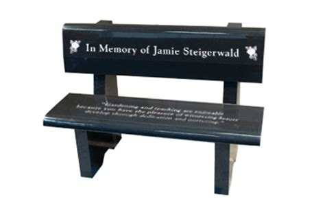 graveside benches memorial park bench 34 quot wide headstone tombstone grave marker headstones and