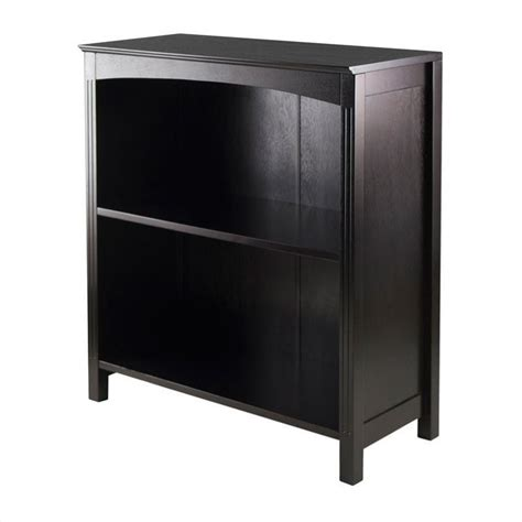 storage shelf bookcase 3 tier 26 quot wide in espresso 92327