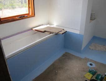 waterproof bathroom tiles how to tile and waterproof a bathroom build