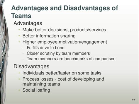 design and build contract advantages and disadvantages ppt organizational behavior chapter 8 team