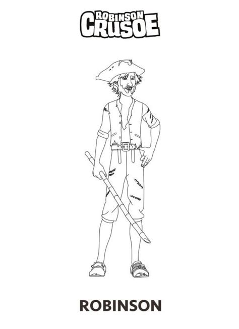 robinson crusoe 3d coloring pages coloring home