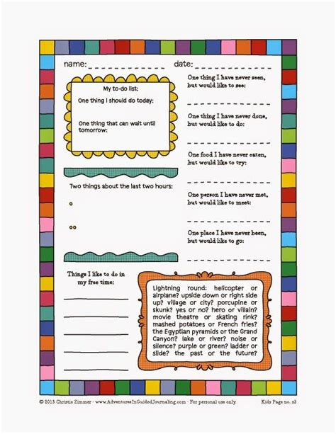 17 Best Images About Mindfulness Activities For Kids On Mindfulness Journal Template