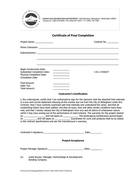 Completion Of Employment Contract Letter How To Write Work Completion Letter Compudocs Us