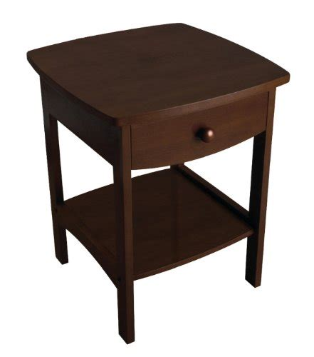 wood accent table nightstands with drawers winsome wood accent table