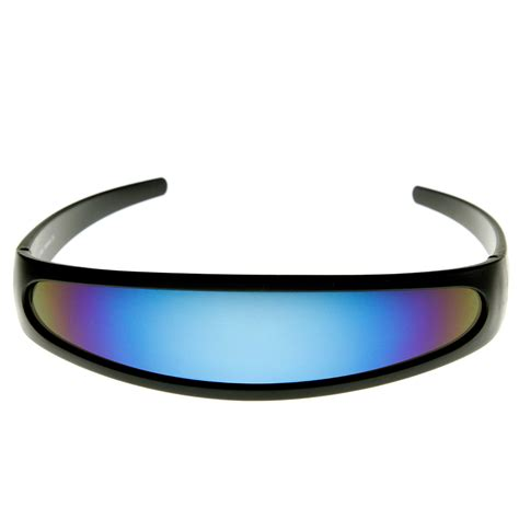 futuristic colors futuristic narrow cyclops color mirrored lens visor