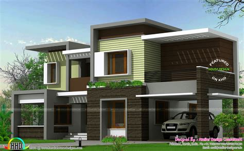 box type home in beautiful style kerala home design and modern box type house 2425 sq ft kerala home design