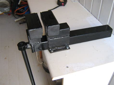 Bench Vice Stand Homemade Table Vise Youtube