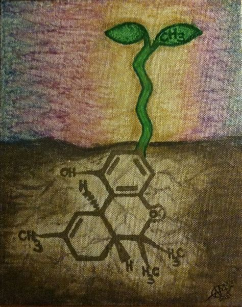 thc molecule by invisiblemarker on deviantart