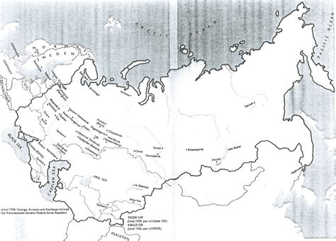 russia and neighboring countries map quiz blank map former soviet union