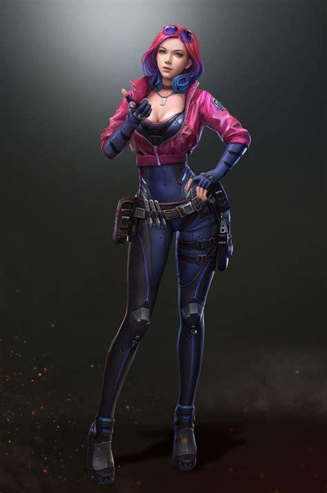 scifi wanderer girl cyberpunk character cyberpunk