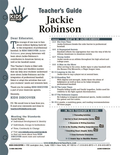 printable worksheets on jackie robinson jackie robinson kids discover