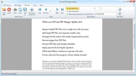pdf joiner full version free download all free pdf merger splitter freeware version 3 1 7 by