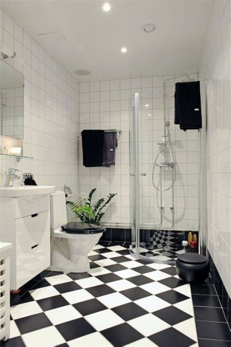 black and white checkered bathroom floor 47 exemples de la salle de bains masculine et 233 l 233 gante