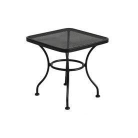 Wrought Iron Patio Side Table Buy Garden Treasures 195 194 Davenport 18 In X 18 In Black