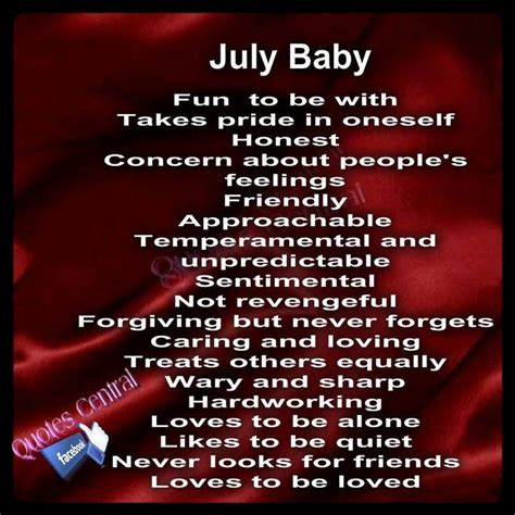 born june meaning birth month july i love to be alone sometimes yes but
