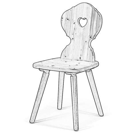 sedie grezze legno sedia grezza stile rustico con cuore w2803 legno grezzo