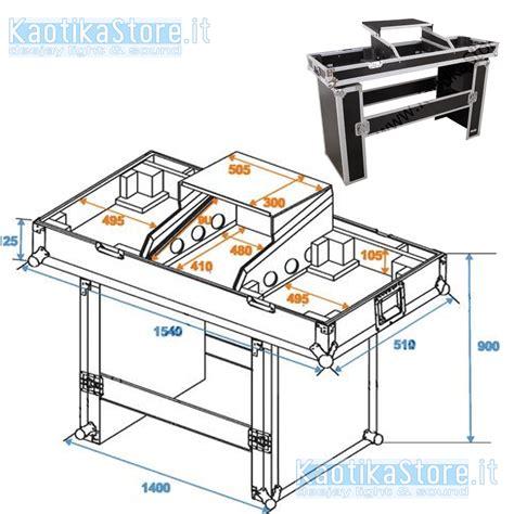 tavolo consolle dj flightcase mobile dj valigia trasporto pc notebook