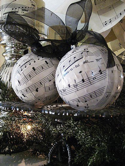 easy and inexpensive christmas decorations from sheet music