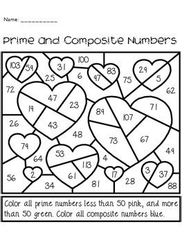 Prime And Composite Numbers Worksheet Grade 4 by S Day Prime And Composite Numbers Activity By