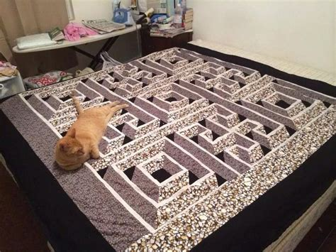 walking labyrinth quilt pattern 61 best optical illusion quilts images on