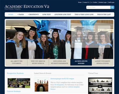 free css templates for educational websites academic education v2 website template free website