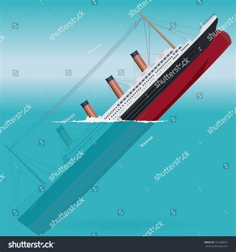boat sinking icon sinking titanic legendary colossal boat monumental stock