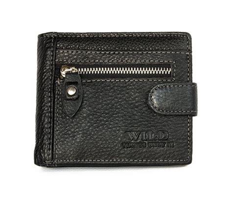 Pocket Genuine Size 5y black pocket size designed genuine leather wallet