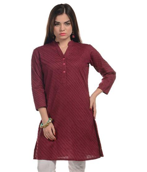 maroon g harshaya g maroon cotton kurti price in india buy