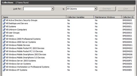 2007 Collections Report 2 by Henk S Move Default Collections In Configmgr 2007